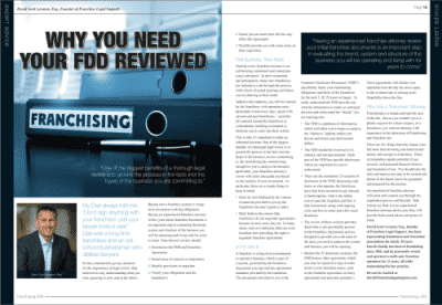 Article by David in FranchisingUSA Magazine